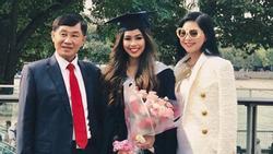 Em chồng Tăng Thanh Hà khiến nhiều người ngưỡng mộ khi được cả gia đình sang Anh chúc mừng nhân ngày tốt nghiệp