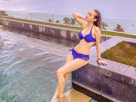 Minh Hằng khoe đường cong gợi cảm với bikini