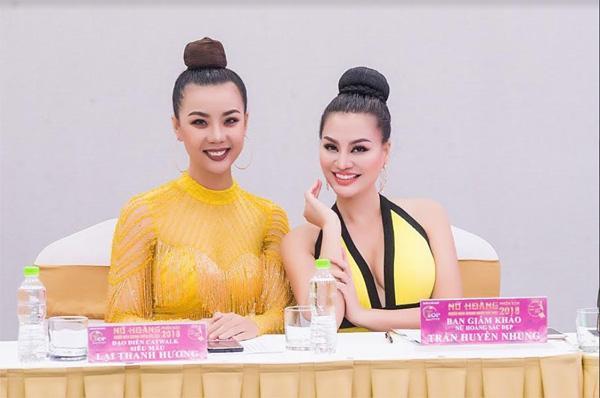 Nữ hoàng sắc đẹp Trần Huyền Nhung quyến rũ trên 'ghế nóng'-2