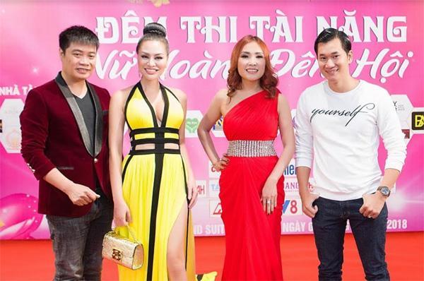 Nữ hoàng sắc đẹp Trần Huyền Nhung quyến rũ trên 'ghế nóng'-3