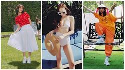 STREET STYLE sao Hàn: Dara bất ngờ đội nón lá check in Việt Nam - Jessica khoe body cực nuột với bikini