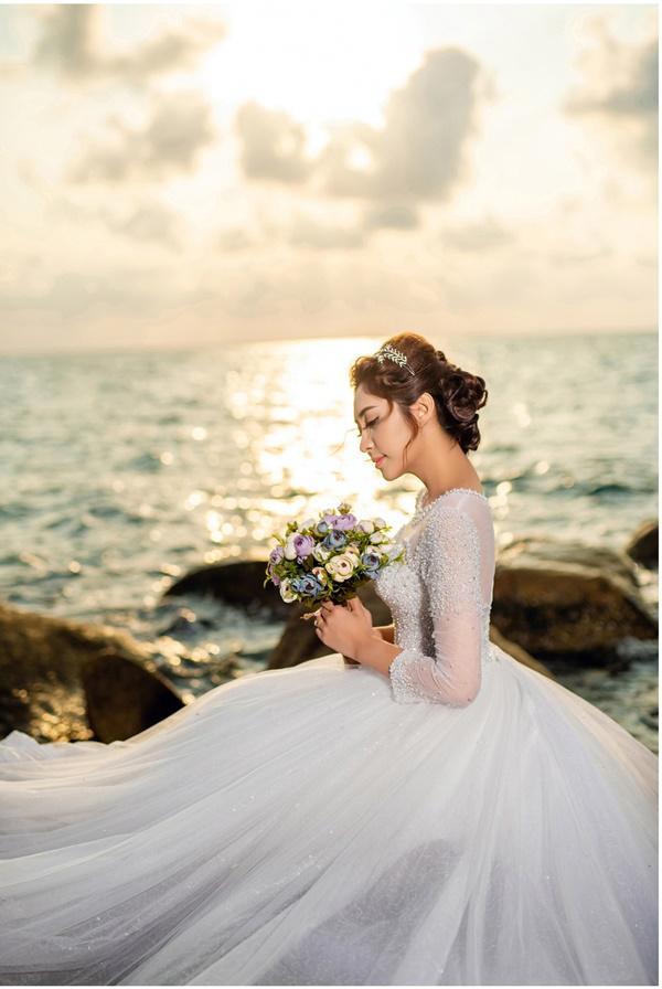 Ngắm trọn bộ ảnh cưới của Hoa hậu Đại dương Đặng Thu Thảo-3