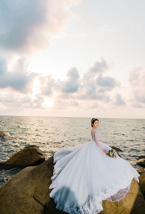 Ngắm trọn bộ ảnh cưới của Hoa hậu Đại dương Đặng Thu Thảo-8