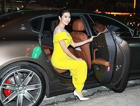 Á hậu Thúy Vân đi siêu xe 7 tỷ mới tậu ra mắt phim lần đầu đóng vai chính
