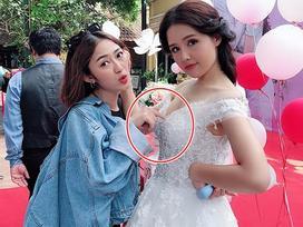 Trang Cherry lầy lội đặt tay lên vòng 1 của bạn diễn xinh đẹp