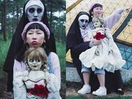 Cười banh họng với bộ ảnh Trang Hý cùng ác quỷ ma sơ và búp bê ma du hí tại Đà Lạt