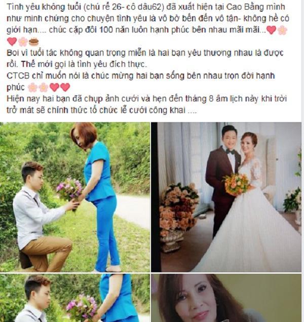 Cổ tích thời hiện đại: Cô dâu 61 tuổi ở Cao Bằng bất ngờ được chồng trẻ trao nhẫn đính hôn trong tiệc sinh nhật-3