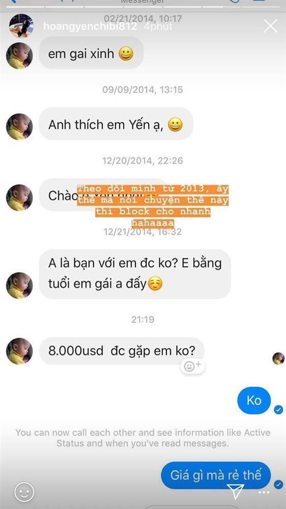 Bị gạ tình giá 8.000 USD, Hoàng Yến Chibi thẳng tay block kẻ khiếm nhã vô duyên-1