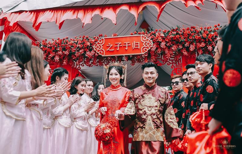 Bộ ảnh ăn hỏi độc đáo của cặp đôi người Việt gốc Hoa gây sốt mạng xã hội-1