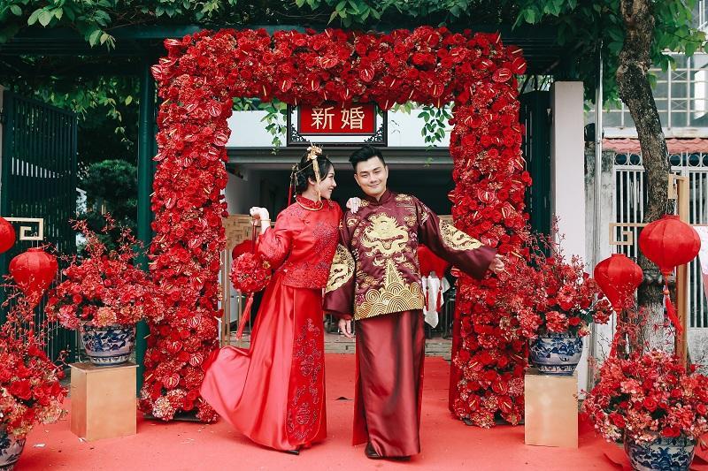 Bộ ảnh ăn hỏi độc đáo của cặp đôi người Việt gốc Hoa gây sốt mạng xã hội-2