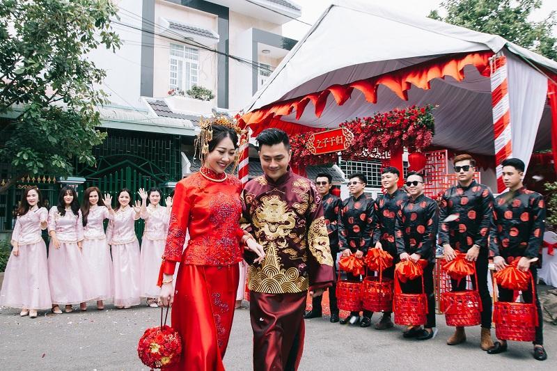 Bộ ảnh ăn hỏi độc đáo của cặp đôi người Việt gốc Hoa gây sốt mạng xã hội-3