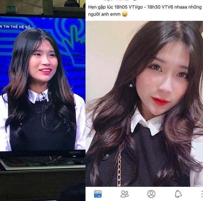 Trên mạng xinh đẹp là thế nhưng ảnh thật khi lên truyền hình của hotgirl Hà thành khiến người nhìn shock nặng-1