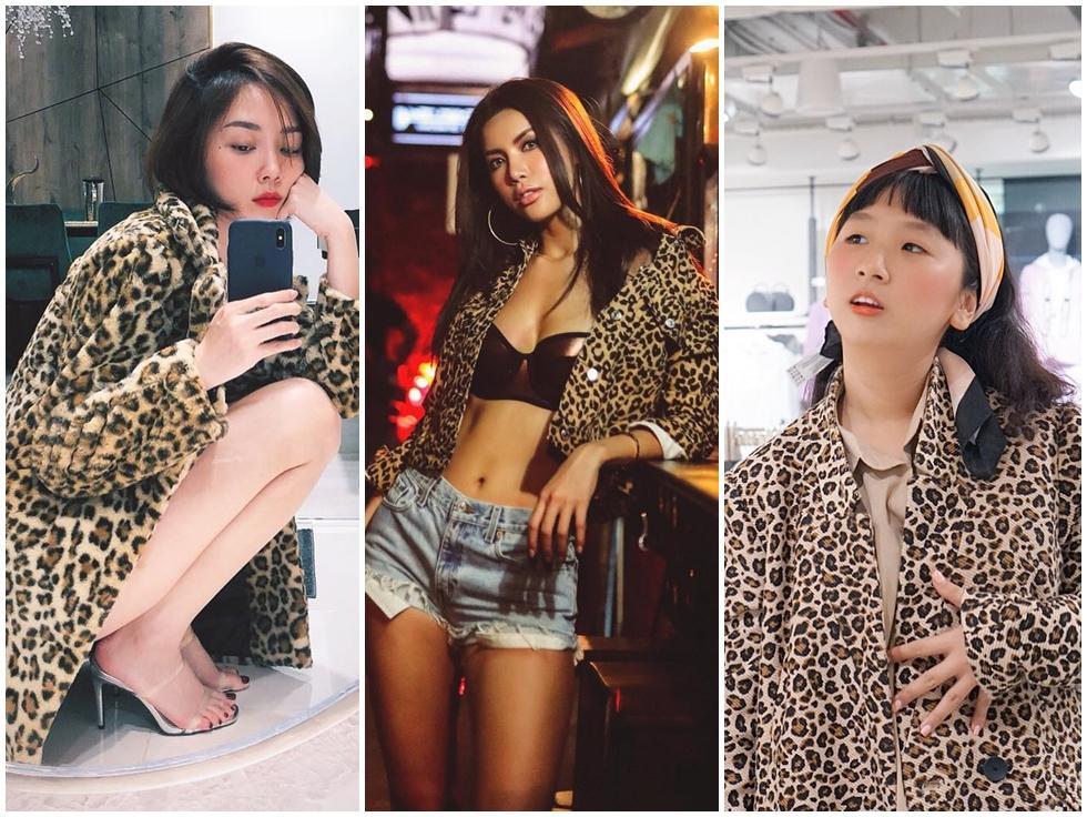 Tóc Tiên, Minh Tú, Chi Pu cùng hàng loạt tín đồ thời trang điên đảo trở lại với họa tiết da báo