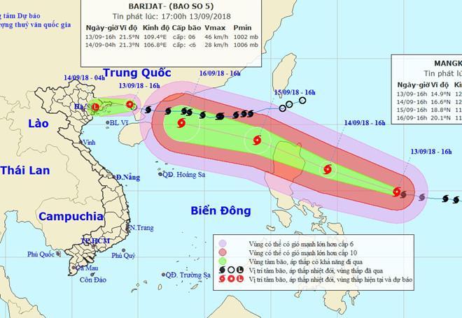 Siêu bão Mangkhut tiến nhanh về Biển Đông-1