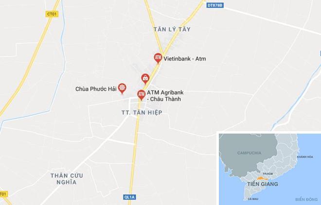 Truy bắt tên cướp ngân hàng ở Tiền Giang-2