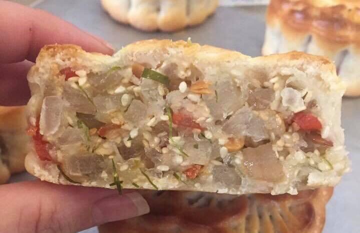 Cách làm bánh trung thu nhân thập cẩm truyền thống-5