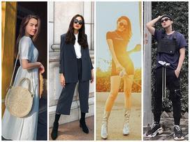 Tăng Thanh Hà 'lên đồ' công sở sành điệu - Sơn Tùng dát hàng hiệu chất 'ngất' dẫn đầu top sao mặc street style đẹp