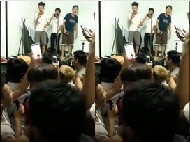 Nhóm 40 người bạn hát 'Em gái mưa' an ủi nam sinh thất tình