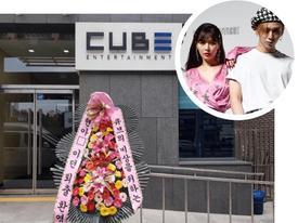 Vì sao HyunA và công ty Cube bị gửi vòng hoa chế giễu