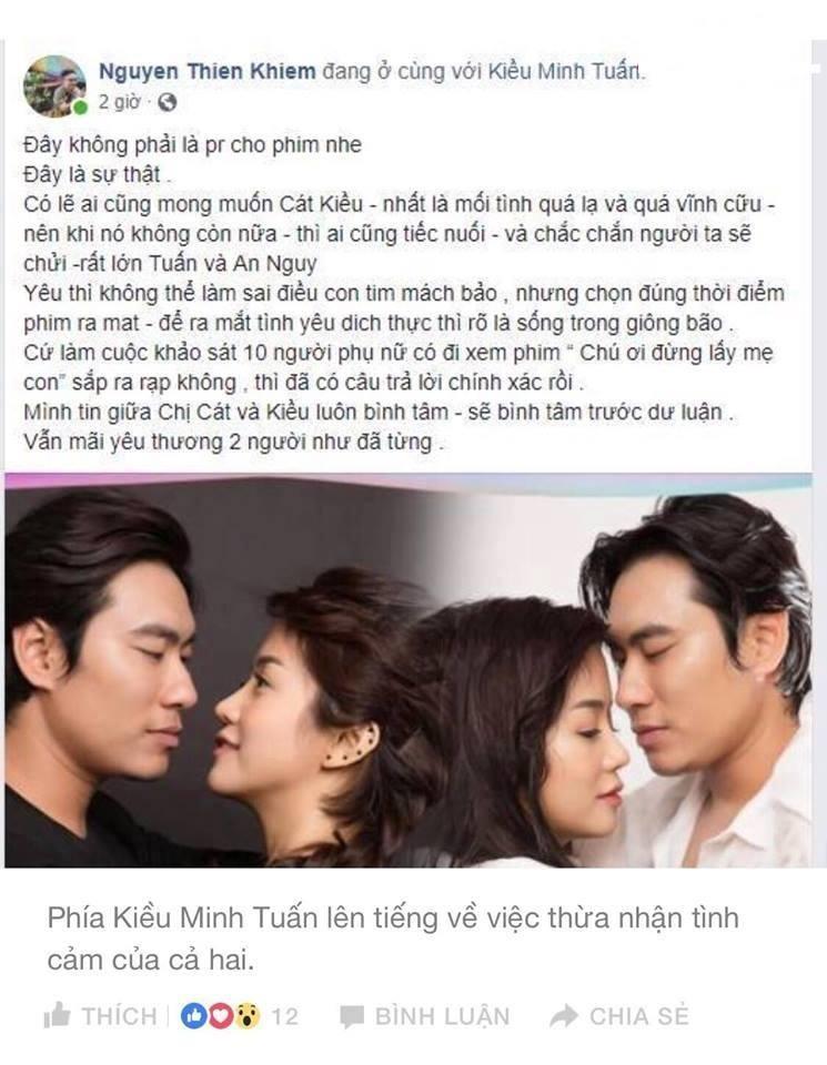 Đại diện Kiều Minh Tuấn khẳng định Kiều - An thật sự yêu nhau, họ chỉ sai khi chọn nhầm thời điểm công bố-3