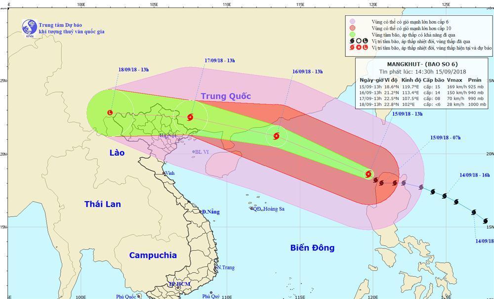 Tin mới nhất: Bão Mangkhut giảm 2 cấp, đi nhanh trên biển Đông-1