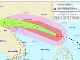 Tin mới nhất: Bão Mangkhut giảm 2 cấp, đi nhanh trên biển Đông