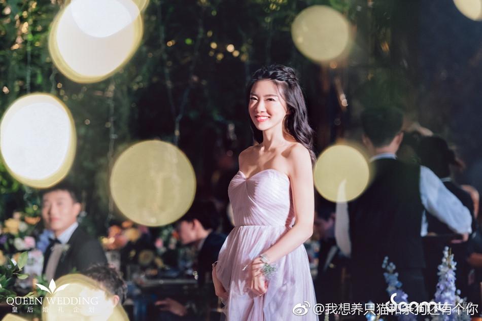 Triệu Vy xinh đẹp khi dự lễ cưới thiên kim nhà giàu Trung Quốc-6
