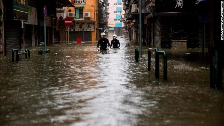Thiên đường cờ bạc Macau biến thành sông vì bão Mangkhut-2