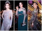 Hoa hậu Việt Nam 2018: Nam Em đẫy đà như mệnh phu nhân giữa dàn Hoa hậu, Á hậu lộng lẫy