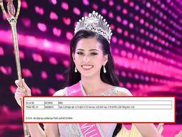 Tân Hoa hậu Việt Nam 2018 Trần Tiểu Vy bị nghi tốt nghiệp THPT với bảng điểm dưới trung bình