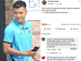 Chinh 'đen' đăng trạng thái bằng tiếng Anh, đồng đội đặt nghi vấn anh chàng bị hack Facebook