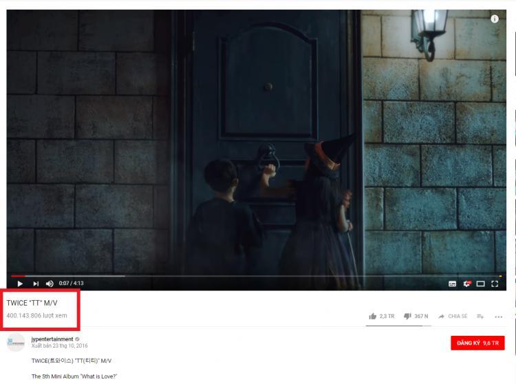 Tin vui: TWICE đã có MV đầu tiên đạt 400 triệu views, thời gian cán mốc con số này là…-1