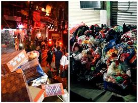 Cháy lớn trên đường Đê La Thành: Người dân hộc tốc di tản tài sản