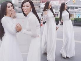 Đi đám cưới Kim Nhã, BB Trần - Hải Triều tranh thủ cho ra lò bộ ảnh áo dài chất lừ tại Thái Lan