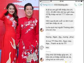 Rò rỉ tin nhắn Nhã Phương mời cưới hội bạn thân, yêu cầu khi đi mang theo thiệp mời mới được vào cửa