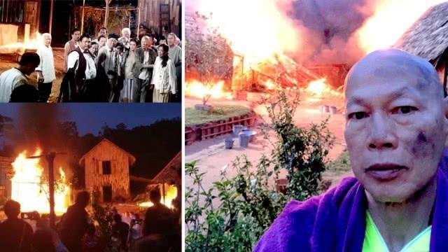 Cận cảnh vụ cháy phim trường khiến sao Anh hùng xạ điêu bị bỏng nặng-2