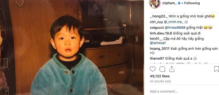 Đăng ảnh xưa ơi là xưa, vlogger Huyme khiến fans giật mình vì giống cháu trai như hai giọt nước-1