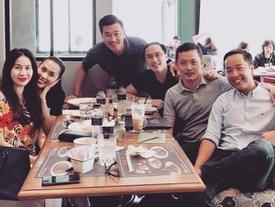 Tăng Thanh Hà cùng ông xã đi ăn uống hẹn hò với hội bạn thân