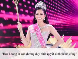 Tranh cãi vì bảng điểm bết bát và phát ngôn 'học không là con đường duy nhất' của tân Hoa hậu Việt Nam 2018 Trần Tiểu Vy