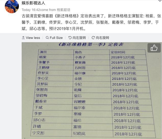 Rộ tin Trương Hinh Dư vào vai Hạ Tử Vy, fans Hoàn Châu Cách Cách cật lực phản đối-1
