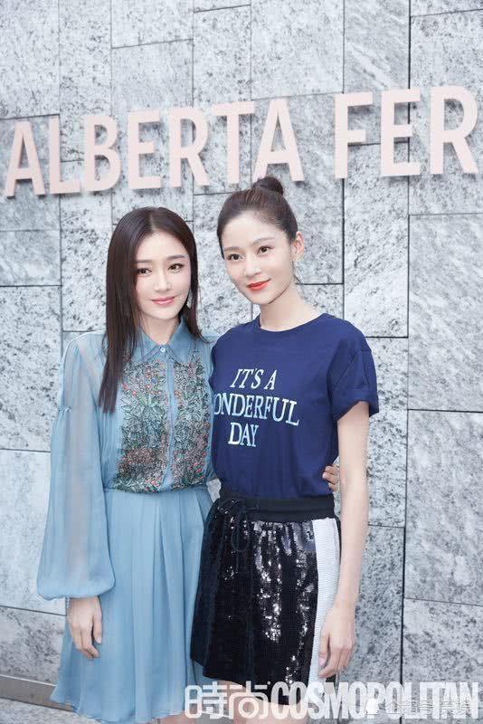 Cặp đối thủ Phú Sát hoàng hậu Tần Lam - Đổng Khiết đọ sắc bất phân thắng bại tại Tuần lễ thời trang Milan-6