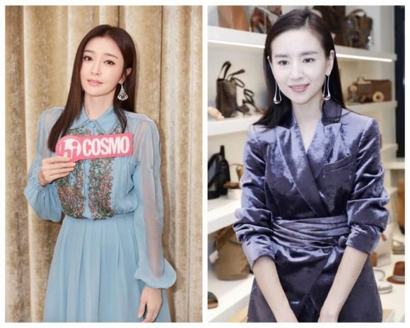 Cặp đối thủ Phú Sát hoàng hậu Tần Lam - Đổng Khiết đọ sắc bất phân thắng bại tại Tuần lễ thời trang Milan-1