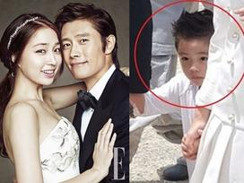 Hình ảnh duy nhất lộ mặt con trai của tài tử 'Iris' Lee Byung Hun và vợ Lee Min Jung