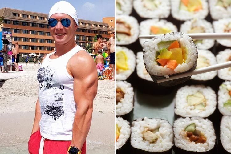 Bị nhà hàng buffet cấm cửa vì đánh bay 100 đĩa sushi-1