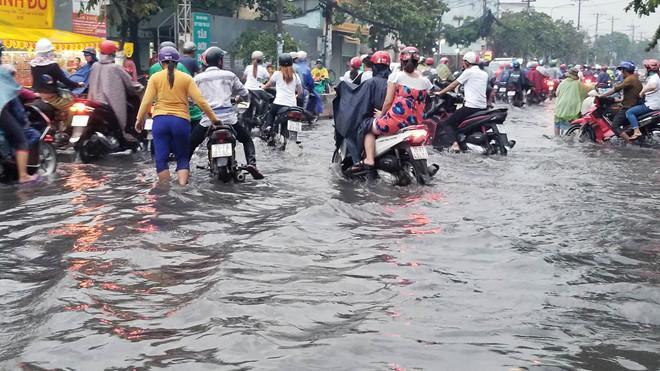 Nhiều tuyến Sài Gòn ngập sâu sau mưa lớn-1