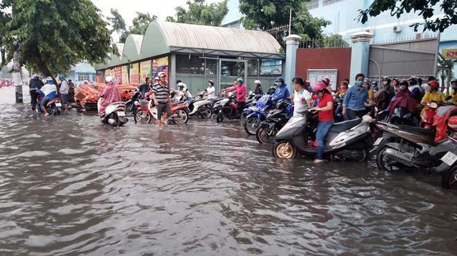 Nhiều tuyến Sài Gòn ngập sâu sau mưa lớn-5