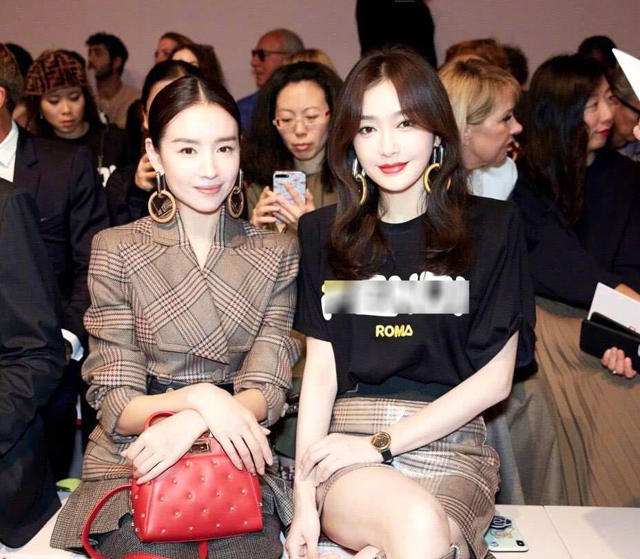 Hai Phú Sát hoàng hậu Tần Lam và Đổng Khiết đọ sắc trong cùng khung hình-3