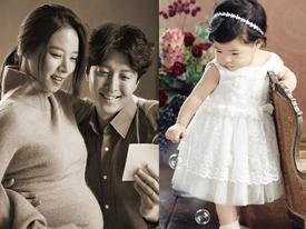 Lee Dong Gun và Jo Yoon Hee khoe ảnh con gái cực đáng yêu
