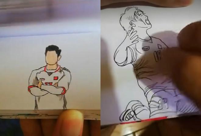 9X tái hiện khoảnh khắc ăn mừng của Văn Thanh qua 140 tranh vẽ-1