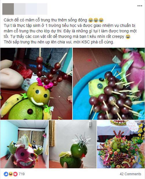 Đặc sản mùa Trung thu: Những mâm ngũ quả cắt tỉa vừa đáng yêu vừa kỳ dị khiến dân mạng chỉ biết ôm bụng cười-1
